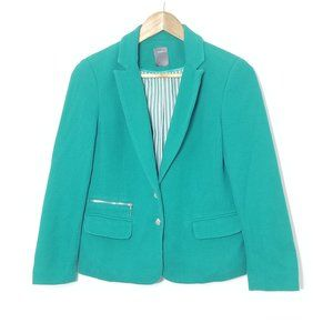 Smart Set | Teal Cotton Blazer Size Small Business